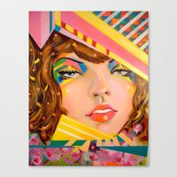 Confetti Woman Canvas Print