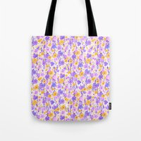 Flower Field Yellow Lilac Tote Bag