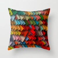 Colorful Rectangles With… Throw Pillow