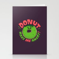 Donut Make Me Angry! Stationery Cards