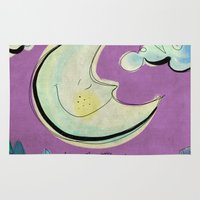 Moon - purple Rug