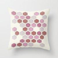 overlap mauve Throw Pillow