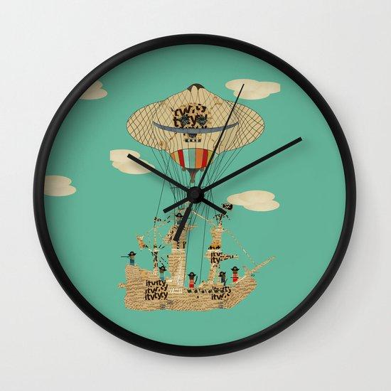 sky pirates Wall Clock