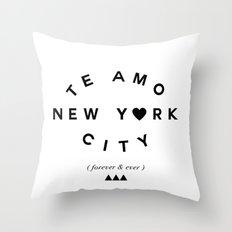 TE AMO NEW YORK CITY (forever & ever) Throw Pillow
