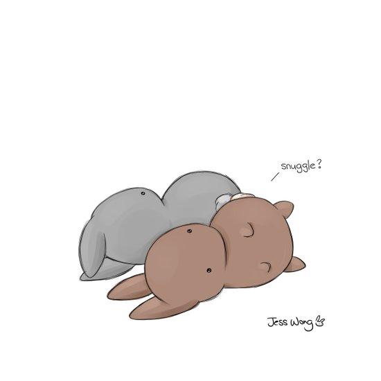 Snuggle? Art Print