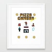 The Pizza Gamers Framed Art Print