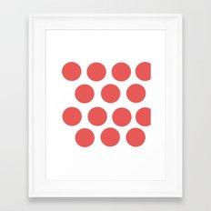 CirclePink Framed Art Print