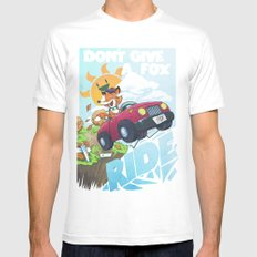 Don´t give a fox Mens Fitted Tee SMALL White