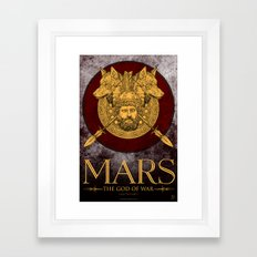 MARS - The God Of War Framed Art Print