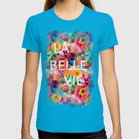 Summer Colors Womens Fitted Tee Teal SMALL