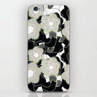 Mysterious Night - Flowers by SewMoni iPhone & iPod Skin