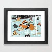 Night Run Framed Art Print