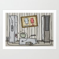 robot schmobot in color Art Print