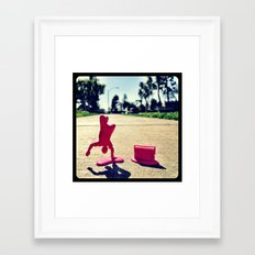 Breakdancing on a sunny day. Framed Art Print