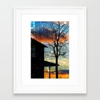 Winter Electric Framed Art Print