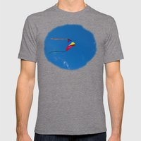 Controlled Flight - Kite… Mens Fitted Tee Tri-Grey SMALL