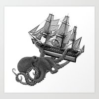 Release The Kraken Art Print
