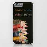 Color outside of the lines iPhone 6 Slim Case