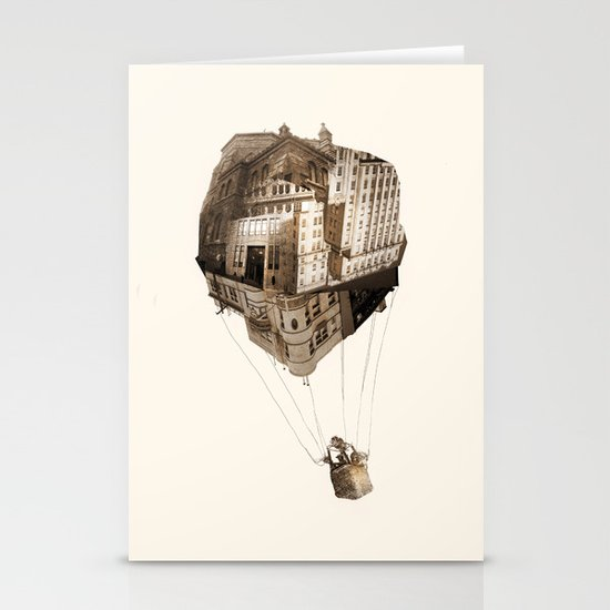 Up In the Air Stationery Card