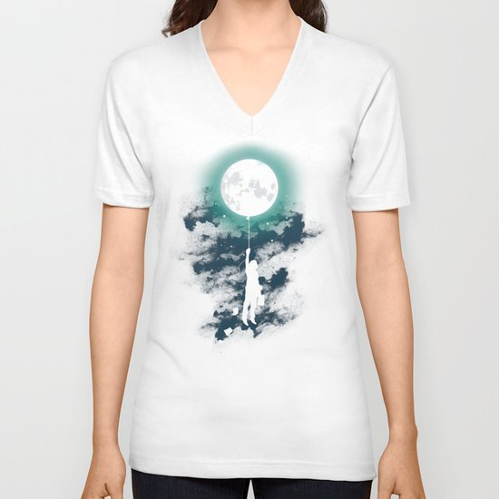 Burn the midnight oil  V-neck T-shirt
