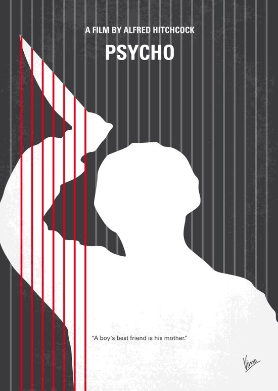No185 My Psycho minimal movie poster Art Print
