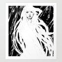 Girl in the Storm Art Print