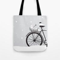 Bicycle & snow Tote Bag