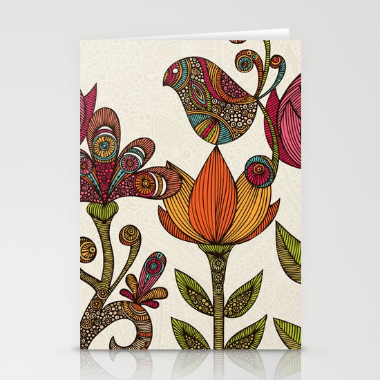 In the garden Stationery Card