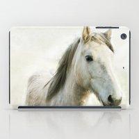 White Horse Portrait iPad Case