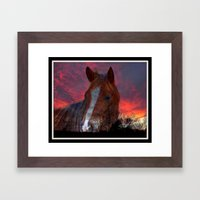 Mystic Sunset Framed Art Print
