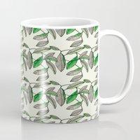 Watercolor Leaves Mug