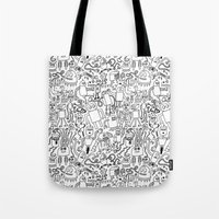 Infinity Robots Black & … Tote Bag