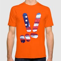 Peace Mens Fitted Tee Orange SMALL