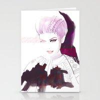 Ethno fashion illustration Stationery Cards