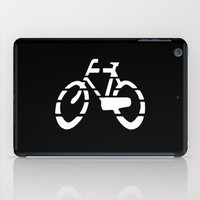 Bike Silhouette Black iPad Case
