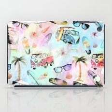 Beach time- summer watercolor pattern  iPad Case