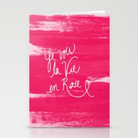 La Vie en Rose Stationery Cards
