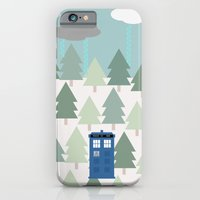 iPhone & iPod Case featuring TARDIS lands in the Pacific Northwest Pine Tree Forest - Oregon, Washington, Portland, PDX, Seattle by Corrie Jacobs