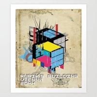 Rubik's building - Vienna 2044 Art Print