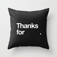 (NOTHING) Throw Pillow
