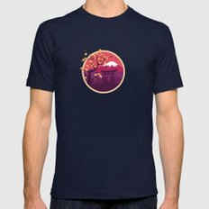 Japan Mens Fitted Tee Navy SMALL