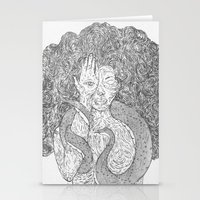 Snake And Sprite Stationery Cards
