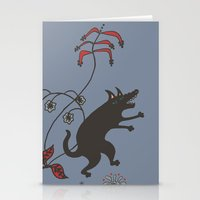 Black Dog Dancing In A G… Stationery Cards