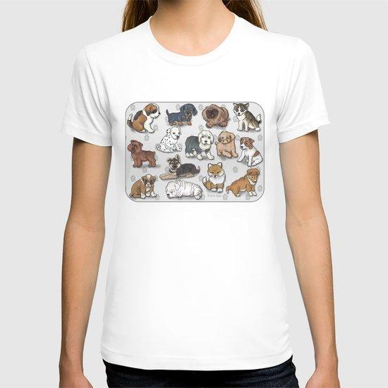 Puppies, more than a dozen.  T-shirt