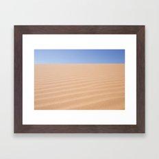 desert ripples Framed Art Print