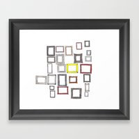Art, Art Everywhere, but Not A Frame To Fill. Framed Art Print