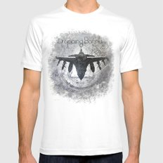 Thunder with Crackers Mens Fitted Tee SMALL White