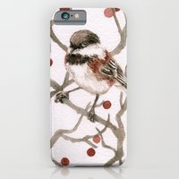 iPhone & iPod Case featuring Chickadee & Berries by Emily Swedberg (Ito Inez)