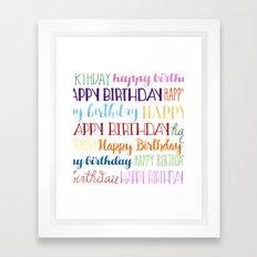 Happy Birthday   Fun & Bright Framed Art Print