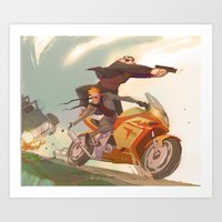Agent Calvin And Hobbes:… Art Print
